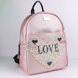 NWT Betsey Johnson Pink Sequence Backpack